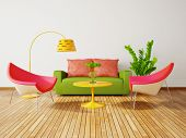 stock photo of interior  - modern interior room with nice furniture inside - JPG