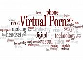Virtual Porn, Word Cloud Concept 7 poster