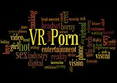 Vr Porn, Word Cloud Concept 3 poster