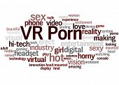 Vr Porn, Word Cloud Concept 9 poster