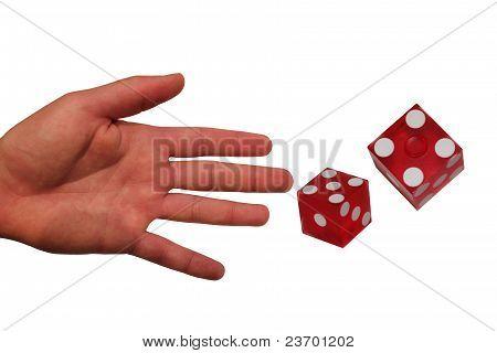 Open Hand Throwing Dice