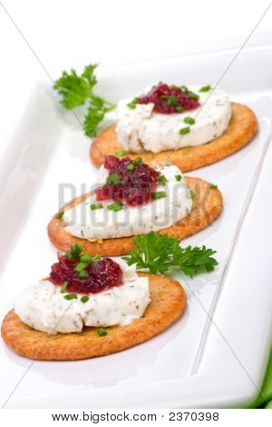 Goat Cheese Canapes
