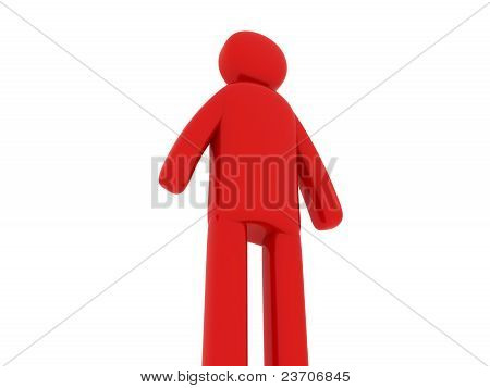 Red Man Standing - Social Themes