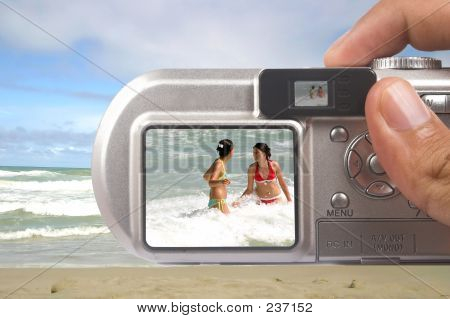Digital Camera Taking Picture