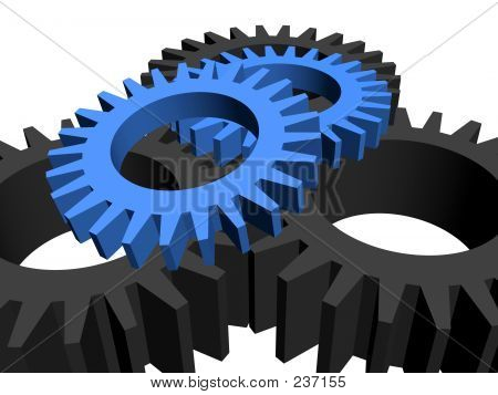 Gears Over White