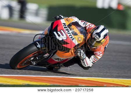VALENCIA, SPAIN - NOVEMBER 6: MotoGP  Comunitat Valenciana - Dani Pedrosa - on November 6, 2009 in Valencia, Spain