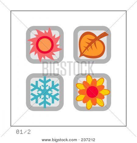 Seasons: Icon Set 01 - Version 2