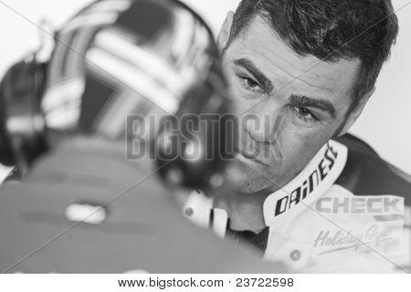 VALENCIA, SPAIN - NOVEMBER 5: Fonsi Nieto in MOTOGP Grand Prix of the Comunitat Valenciana, Ricardo Tormo Circuit of Cheste, Spain on NOVEMBER 5, 2010 in Valencia, Spain.