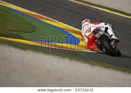 VALENCIA, SPAIN - NOVEMBER 7: Fonsi Nieto in motogp Grand Prix of the Comunitat Valenciana, Ricardo Tormo Circuit of Cheste on November 7, 2010 in Valencia, Spain