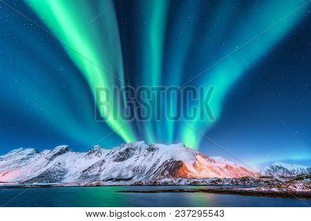 Aurora Borealis Lofoten Islands Norway