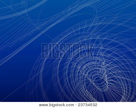 Wireframe Abstract Architecture