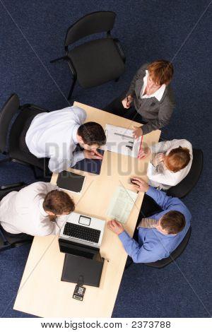 Business-Präsentation auf der Tagung