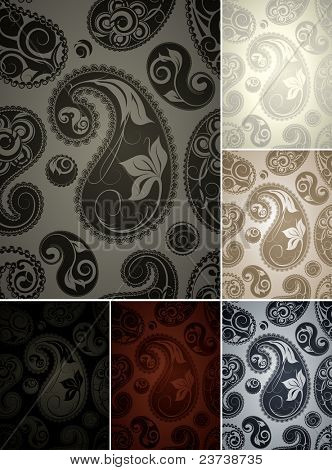 Wallpaper pattern six colors, bitmap copy