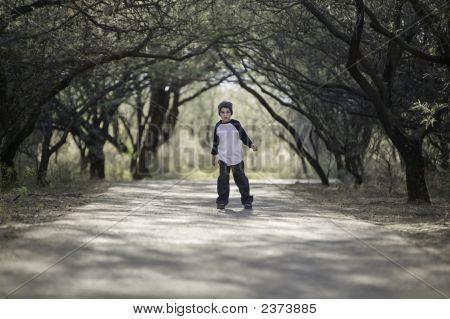 Menino em um caminho