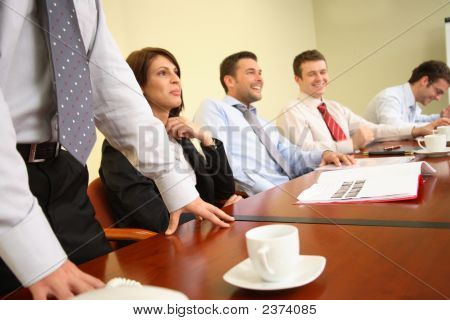 Debate - Group Of People Having Fun During Meeting