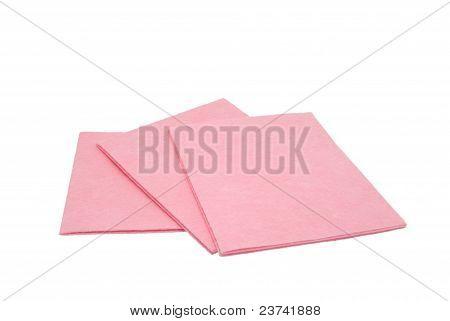 Three Pink Napkins