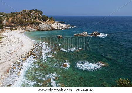 Damouchari beach at Pelion in Greece