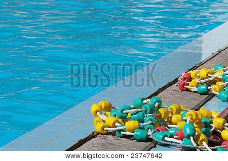 floaters on swimming pool