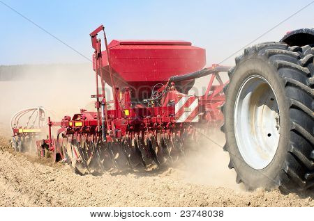 Sowing machine close up