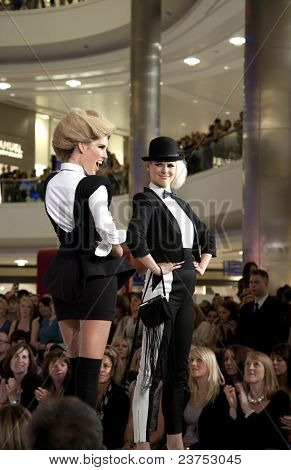 SOUTHAMPTON, UK - SEPT. 22: Models walk the catwalk on September 22, 2011 during the filming of