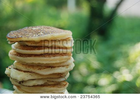 Pile Of Thick Pancakes