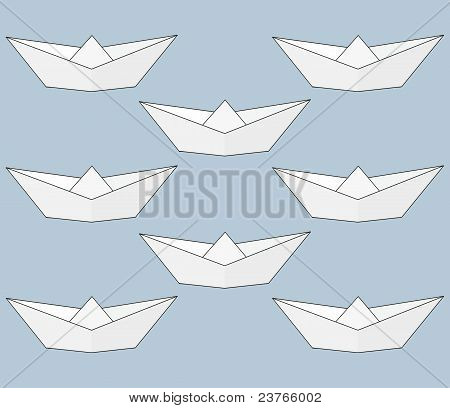 Paper ship - Origami.