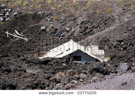 House under lava