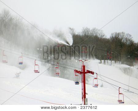 Skiing Man Made Snow