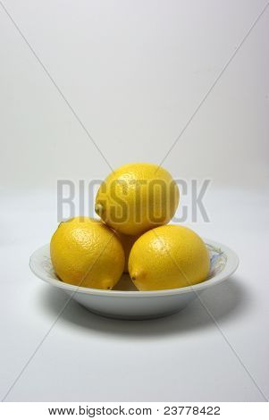 Three Lemons In A Bowel