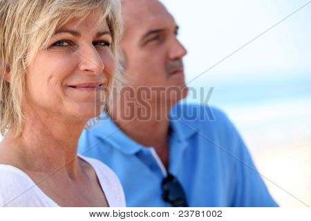 Carefree couples on vacation together