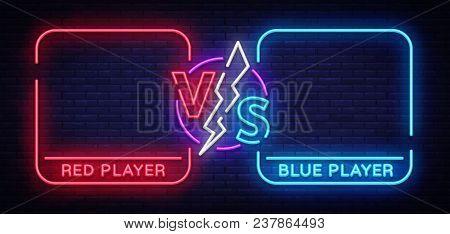 Versus Screen Design In Neon
