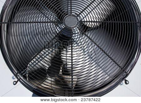 Spinning Air Conditioner Fan