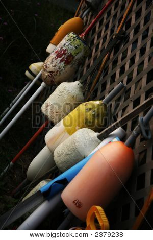 Collection Of Fishing Buoys