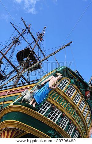 Sailboat Stern And Masts