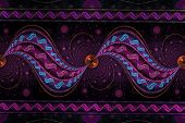 Abstract Fantasy Colorful Swirly Ornament - Fractal,  Fractal Shapes Fantasy Pattern poster