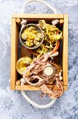 Healing Herbs In Wooden Box poster