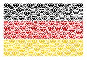 German State Flag Concept Combined Of Diamond Design Elements. Vector Diamond Items Are Organized In poster