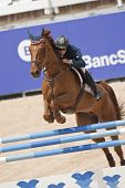 VALENCIA, SPAIN - MAY 7: Rider Guido Grimaldi, Horse Art Nouveau, Italy in the Global Champions Tour