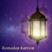 Ramadan. Muslim Illustration With Ramadan For Decorative Design. Ramadan Kareem Background. poster