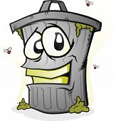 picture of smelly  - A trash can full of smelly garbage - JPG
