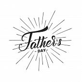 Fathers Day. Trendy Lettering Logo For Fathers Day poster