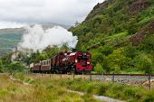 picture of loco  - Steam train in Snowdonia - JPG