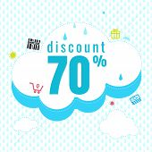 Sale Banner Background. Vector Illustration. Rainy Season Design For A Shop And Sale Discount poster