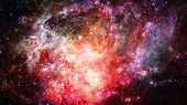 Beautiful Nebula And Galaxy. Elements Of This Image Furnished By Nasa. poster
