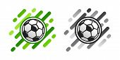 Soccer Ball Vector Icon On Abstract Background. Football Ball Vector Icon. Soccer Logo poster