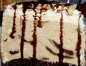 picture of mudslide  - picture of a piece of mudslide ice cream cake shot just before it began to melt - JPG