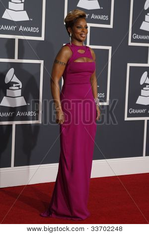 LOS ANGELES, CA - JAN 31: Mary J Blige at the 52nd Annual GRAMMY Awards held at the Nokia Theater on January 31, 2010 in Los Angeles, California