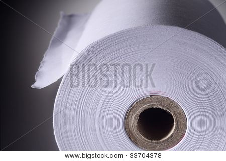 close up Roll of white paper