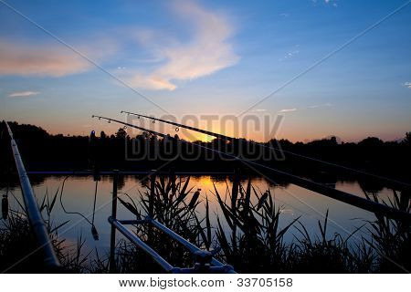 Carp Fishing Sunrise