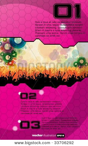 Vector party background for music poster